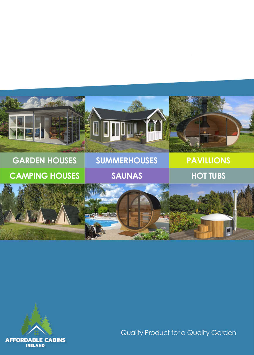 Cover of Saunas Hot Tubs etc. Brochure Affordable Cabins Ireland