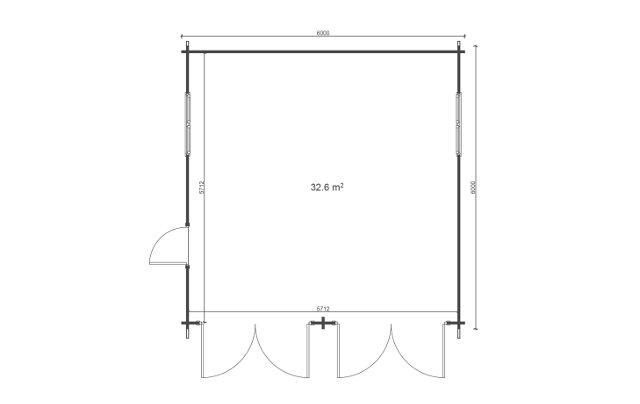 Garage-6x6-floor-plan Affordable Cabins Ireland