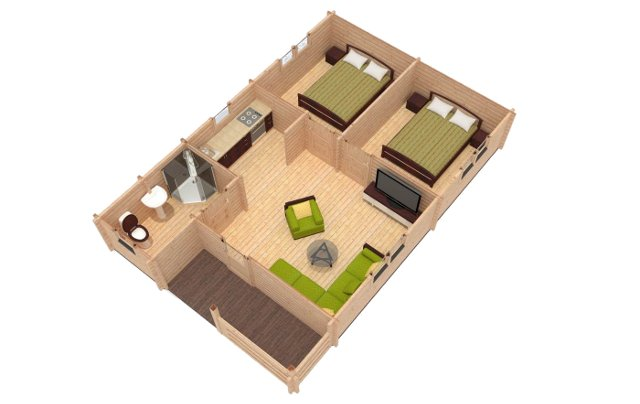 Almeria 3d View Affordable Cabins Ireland
